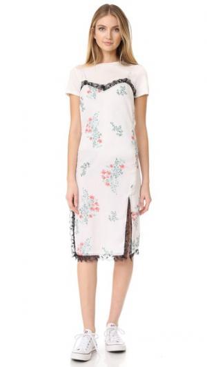 Платье без рукавов с принтом Peony Blossom ENGLISH FACTORY. Цвет: принт в виде цветущих пионов