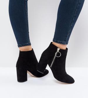 Faith Wide Fit Черные ботинки для широкой стопы. Цвет: черный