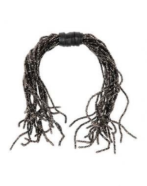 Ожерелье BRUNELLO CUCINELLI. Цвет: темно-коричневый