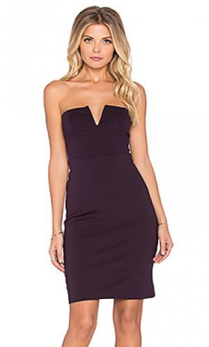 Платье без бретель Bishop + Young. Цвет: фиолетовый