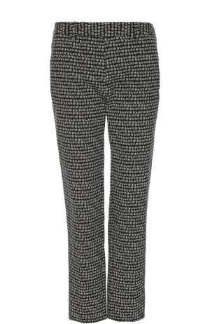 Прямые брюки с контрастным принтом Gerard Darel. Цвет: черный