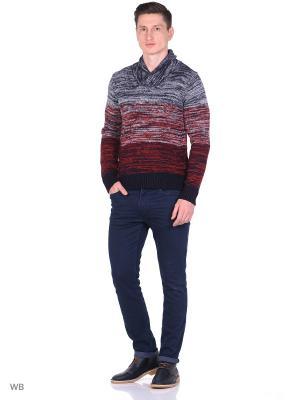 Пуловер Oodji. Цвет: темно-синий, красный
