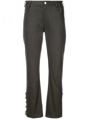 Laced hem trousers Nomia. Цвет: зелёный