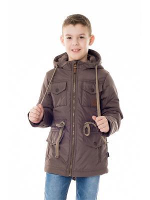 Куртка NIKASTYLE. Цвет: коричневый