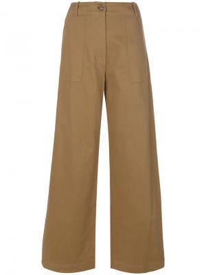 Широкие брюки Semicouture. Цвет: коричневый