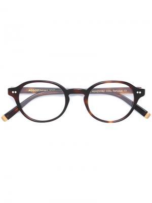 Очки Petie Moscot. Цвет: коричневый