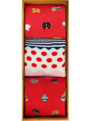 Набор Код Тарантино (3 пары в коробке), дизайнерские носки SOXshop. Цвет: синий,лазурный,красный