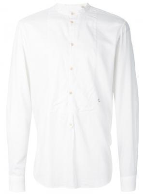 Рубашка с воротником-стойкой Massimo Alba. Цвет: белый