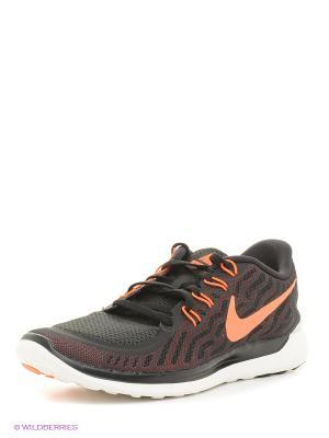 Кроссовки Nike Free 5.0. Цвет: черный, оранжевый