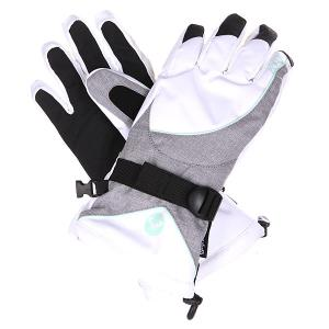 Перчатки сноубордические женские  Big Bear Gloves Heritage Heather Roxy. Цвет: серый,белый