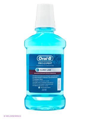 Ополаскиватель полости рта безалкогольный, Pro-Expert Clinic Line Прохладная мята, 250 мл ORAL_B. Цвет: голубой
