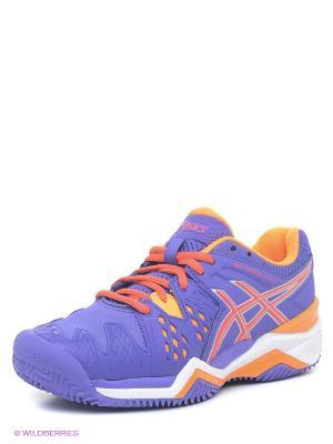 Теннисные кроссовки GEL-RESOLUTION 6 CLAY ASICS. Цвет: фиолетовый