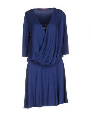 Короткое платье MILA SCHÖN CONCEPT. Цвет: синий
