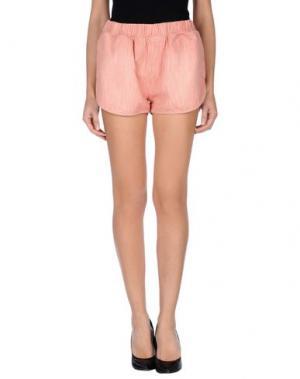 Джинсовые шорты (+) PEOPLE. Цвет: пастельно-розовый