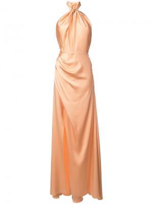 Длинное платье Phobe Maria Lucia Hohan. Цвет: жёлтый и оранжевый