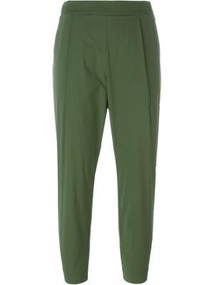 Укороченные брюки кроя слим Erika Cavallini. Цвет: зелёный