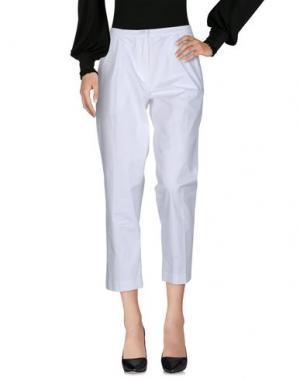 Повседневные брюки BALLANTYNE. Цвет: белый