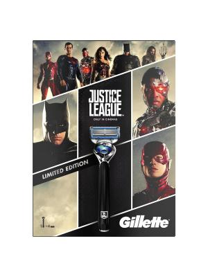 Подарочный набор Gillette Fusion Proshield Chill с 4мя сменными кассетами. Цвет: черный