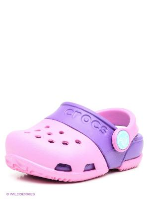 Сабо CROCS. Цвет: фиолетовый, розовый