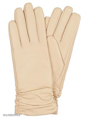 Перчатки женские Marco Bonne`. Цвет: бежевый