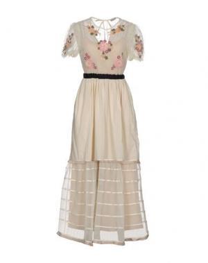 Длинное платье REDValentino. Цвет: слоновая кость
