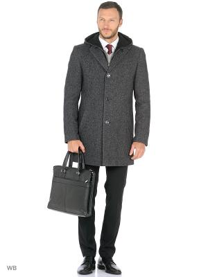 Пальто Berkytt. Цвет: серый меланж