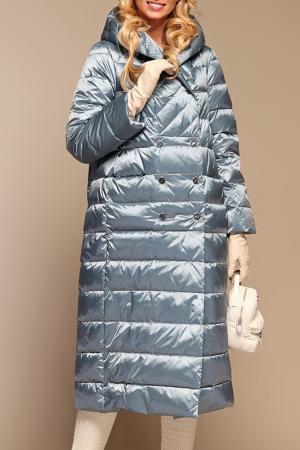 Пуховое пальто Naumi. Цвет: голубой