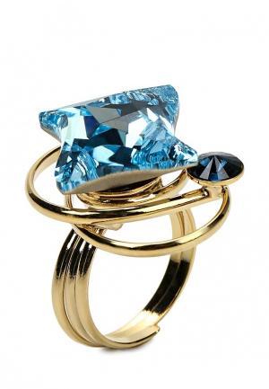 Кольцо Malu. Цвет: голубой