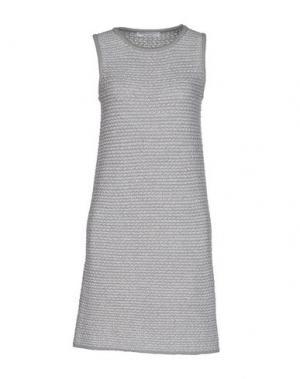 Короткое платье AMINA RUBINACCI. Цвет: светло-серый