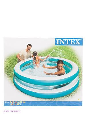 Надувной бассейн Intex. Цвет: голубой, белый