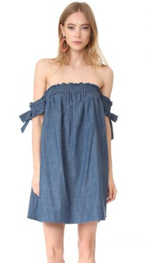 Платье Violeta MISA. Цвет: голубой