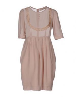 Короткое платье MINA. Цвет: песочный