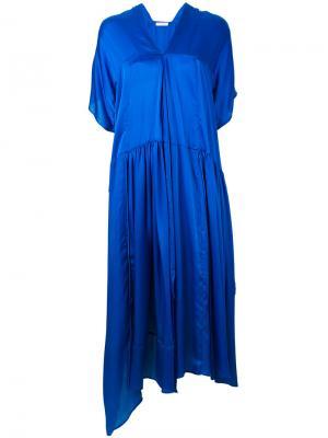 Платье свободного кроя Christian Wijnants. Цвет: синий