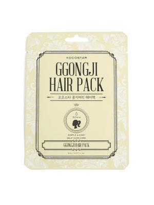 Восстанавливающая маска для поврежденных  волос Конский хвост, 8мл/ GGONGJI HAIR PACK KOCOSTAR. Цвет: желтый