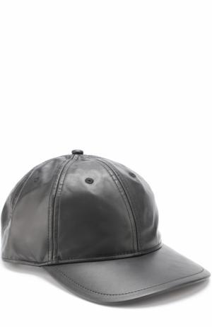 Кожаная бейсболка Rag&Bone. Цвет: черный
