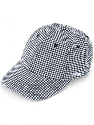 Logo embroidered gingham cap Futur. Цвет: чёрный