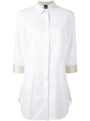 Рубашка с контрастной отделкой Lorena Antoniazzi. Цвет: белый