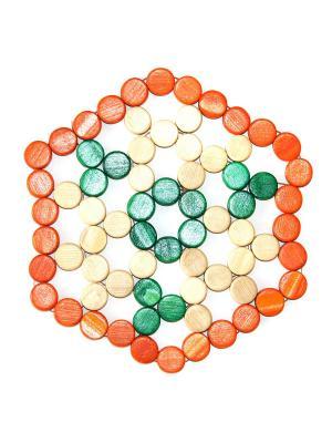 Подставка под горячее DiMi. Цвет: оранжевый,зеленый,бежевый