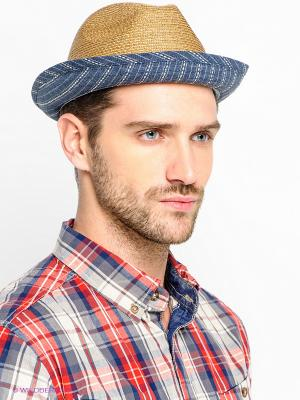 Шляпа Stetson. Цвет: синий, бежевый