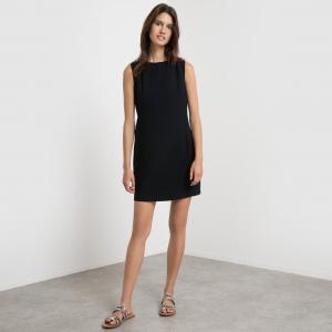 Платье без рукавов с оригинальным бантиком сзади SUNCOO. Цвет: темно-синий