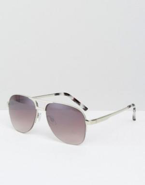 Somedays Солнцезащитные очки-авиаторы Lovin. Цвет: серебряный