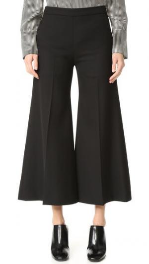 Укороченные расклешенные брюки Isa Struct Acne Studios. Цвет: голубой