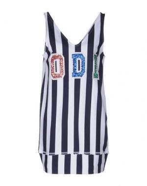 Короткое платье ODI ET AMO. Цвет: темно-синий