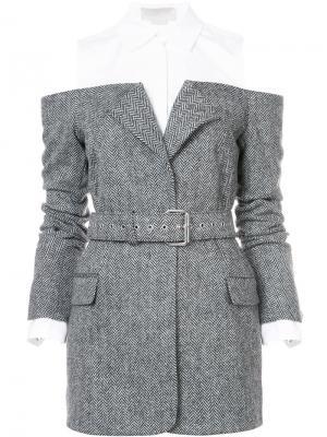 Пиджак с белой вставкой Monse. Цвет: чёрный
