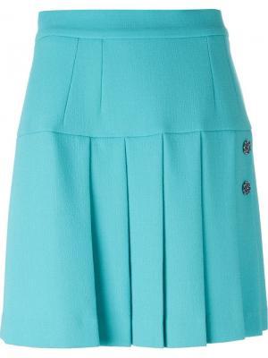 Плиссированная юбка Dolce & Gabbana. Цвет: синий
