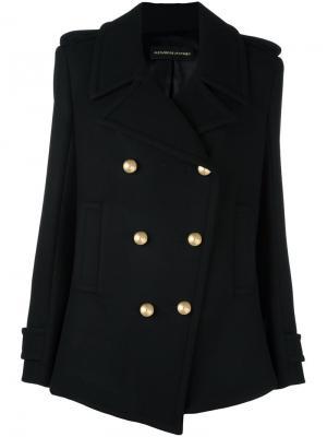 Двубортное пальто Alexandre Vauthier. Цвет: чёрный