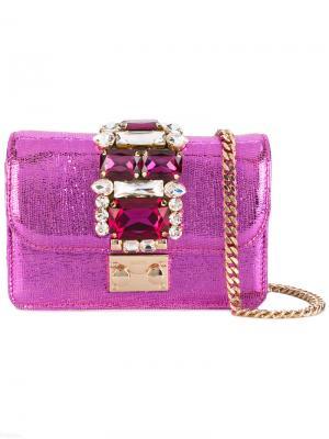 Декорированный клатч Gedebe. Цвет: розовый и фиолетовый