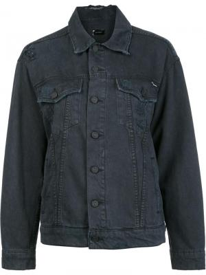 Джинсовая куртка Mother. Цвет: чёрный