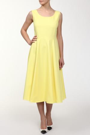 Платье NATALIA PICARIELLO. Цвет: желтый
