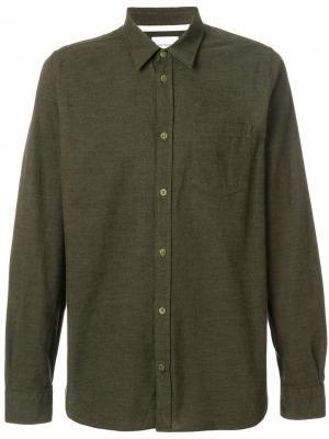 Рубашка мулине Hans Norse Projects. Цвет: зелёный